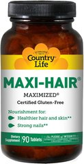 Country Life MAXI HAIR 90 таблеток, 90 шт