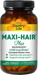 Country Life MAXI HAIR плюс 120 капсул, 120 шт